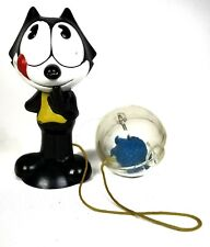 VTG ~ Toy ~ Felix the Cat ~ Catch a Fish ~ Swing the Ball ~ Plastic ~ Original