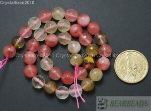 "Natural Watermelon Quartz Gemstone Faceted Round Beads 4mm 6mm 8mm 10mm 12mm 16"""