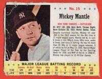 1963 Jello #15 Mickey Mantle LOW GRADE FILLER New York Yankees HOF FREE SHIPPING
