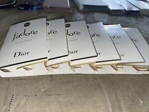 6 New J'ADORE By DIOR 0.03oz / 1ml ea EDP Eau De Parfum Spray Samples NEW