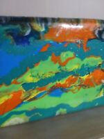 Epoxy resin wood table top Or Wall Art