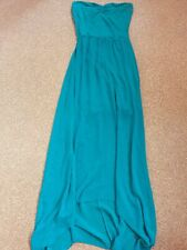 Therapy size 10 teal blue green colour long strapless dress
