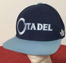 Vintage THE CITADEL BULLDOGS Stitched Blue Snapback adidas Hat Baseball Cap RARE