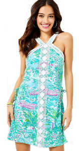 Lilly Pulitzer Ryder Romper Gustavia Green! NEW with Tags! Size: 14