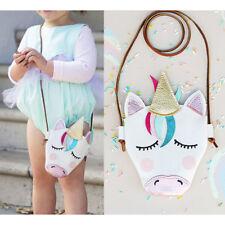 Little Girls PU Leather Unicorn Crossbody Bag