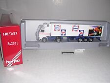 "Herpa #843014 Scania Cab w/Tri Axle ""Iglo"" Reefer Trailor White H.O.Gauge"
