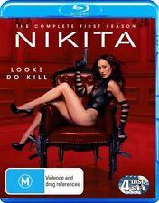 Nikita : Season 1 (Blu-ray, 2011, 4-Disc Set) Maggie Q, Shane West