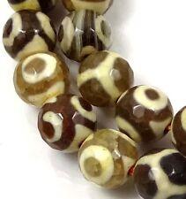 """8mm Tibetan Old Agate Dzi Round Beads 15"""""""