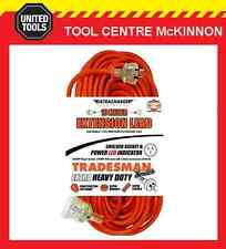10m 3 CORE HEAVY DUTY 1.5mm2  EXTENSION LEAD – 15 AMP WITH 10 AMP PLUGS