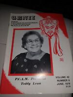 Teddy Leon P.C.A.M. President Issue1978 Vintage Genii Magazine