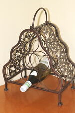 ON SALE!!!  Antique Style Decorative Metal Framed Wine Rack for 6 Bottles