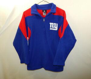 New York Giants NFL Football Fleece Sweater Reebok Size YOUTH MEDIUM M 10 / 12