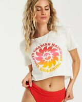 New NWT Women's Billabong Rainbows Always Tee T-Shirt Top Relaxed Fit Size M