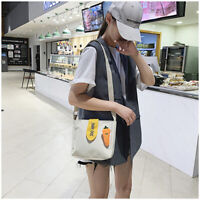 female casual simple sense of radish vintage canvas print student Messenger bag