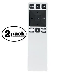 2-Pack Replacement Remote Control for VIZIO XRS321, B3820C6 Sound Bar System