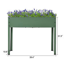 Outdoor Raised Elevated Garden Bed Planter Box Vegetables Fruit Herb Grow Metal