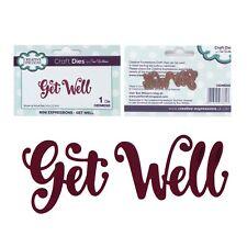 Get Well Metal Die Cut Stencil Words Sue Wilson Cutting Dies Sentiments CEDME005