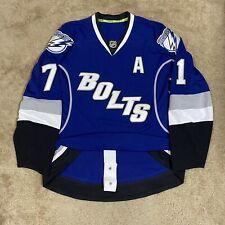 Reebok Authentic Tampa Bay Lightning Bolts Nhl Hockey Jersey Blue Alternate 54