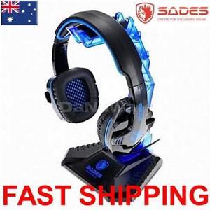 SADES Headset Headphone Stand Protect from damage hanger bracket Universal Blue