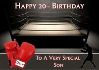 personalised birthday card BOXING any name/age/relation