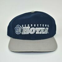 Georgetown Hoyas Vintage 90s Twins Enterprise Adjustable Strapback Cap Hat - NWT