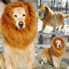 Funny Pet Costume Lion Mane Wig For Dogs Hair Halloween Fancy Dress Up Party~