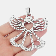 1pcs Large Open Heart Birds 2 sided Charms Pendant Boho style Jewelry Finding