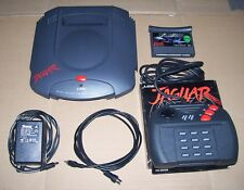 Atari Jaguar games console UK PAL Cybermorph game boxed joypad & power supply