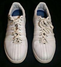 Men K-Swiss Classic VN Leather 03343-101 White Tennis Shoe Sneaker US Size 10.5