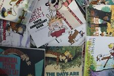 Lot of 10 Calvin & Hobbes by Bill Watterson Paperback Books MIX