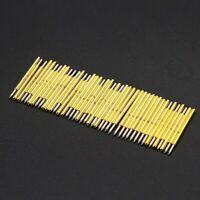 50pc P75-B1 Dia 1.02mm 100g Cusp Spear Spring Loaded Test Probes Pogo Pin Set