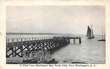 MANHASSET BAY YACHT CLUB PORT WASHINGTON LONG ISLAND NEW YORK POSTCARD 1912