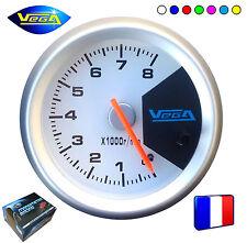 ► Compte-tours Manomètre Vega® 7 couleurs 52mm 0-8.000 trs/min 4 6 8 cylindres ◄