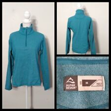 Alpine Design Fleece Pullover Women's Med. Blue 1/2 Zip, Long Sleeve Inv#S8972