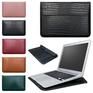 """For MacBook Air Pro 11"""" 13"""" 15"""" 13.3 in PU Leather Bag Sleeve Laptop Case Cover"""