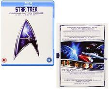 STAR TREK 1979-1991 - MOVIES 1-6 KIRK ORIGINAL SERIES Remastered RgFree BLU-RAY