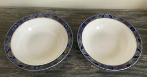 Denby Baroque Cereal Bowls X 2 (some scratches See Photos)