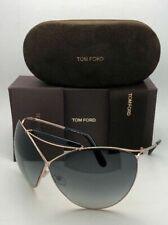 TOM FORD Sunglasses VERUSCHKA TF 220 28B 79-7 Gold & Black Frame w/Grey Gradient