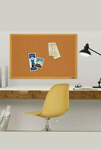 Quartet Corkboard, Framed Bulletin Board, 2' x 3' Cork Board
