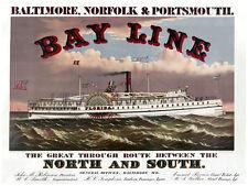 "20x30"" CANVAS Decor.Room art print.Bayline Florida steam boat.Cruiser.6018"