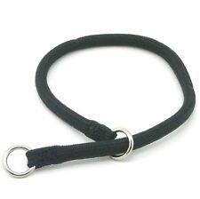 "HAMILTON Round Braided Nylon Choke Dog Collar, 10"" x 3/16"", Black"