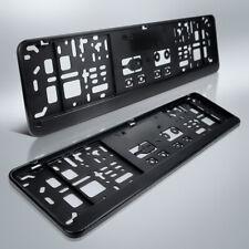2 Kennzeichenhalter | 460 x 110 mm | für kurze Kennzeichen | schwarz | 46 x 11
