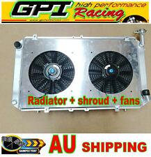 Aluminum Radiator &Shroud+Fans FOR Nissan Patrol Y60 GQ 4.2L TB42S Petrol 87-97