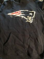 Ladies New England Patriots  Fanatics Branded Pullover Hoodie Sz S