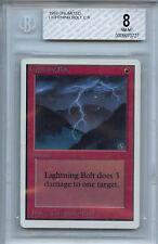 MTG Unlimited Lightning Bolt BGS 8.0 Magic the Gathering WOTC Card 0727
