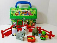 LITTLE PEOPLE On-the-Go Play Zoo Take Along Carry Case