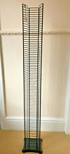 CD Tower Rack - Black Steel Wire - Stores Over 76 CDs