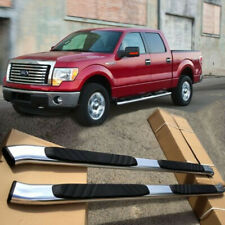 2pcs OE Style For 04-14 F150 Crew Cab 5&#34 Silver Aluminum Side Step Nerf Bars
