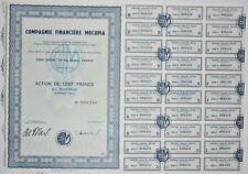 Action - Compagnie Financière MOCUPIA, action de 100 Frs N° 008246