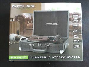 Plattenspieler Plattenspieler Muse MT-101 Lt Tragbar Stereo Neu Neu & Ovp